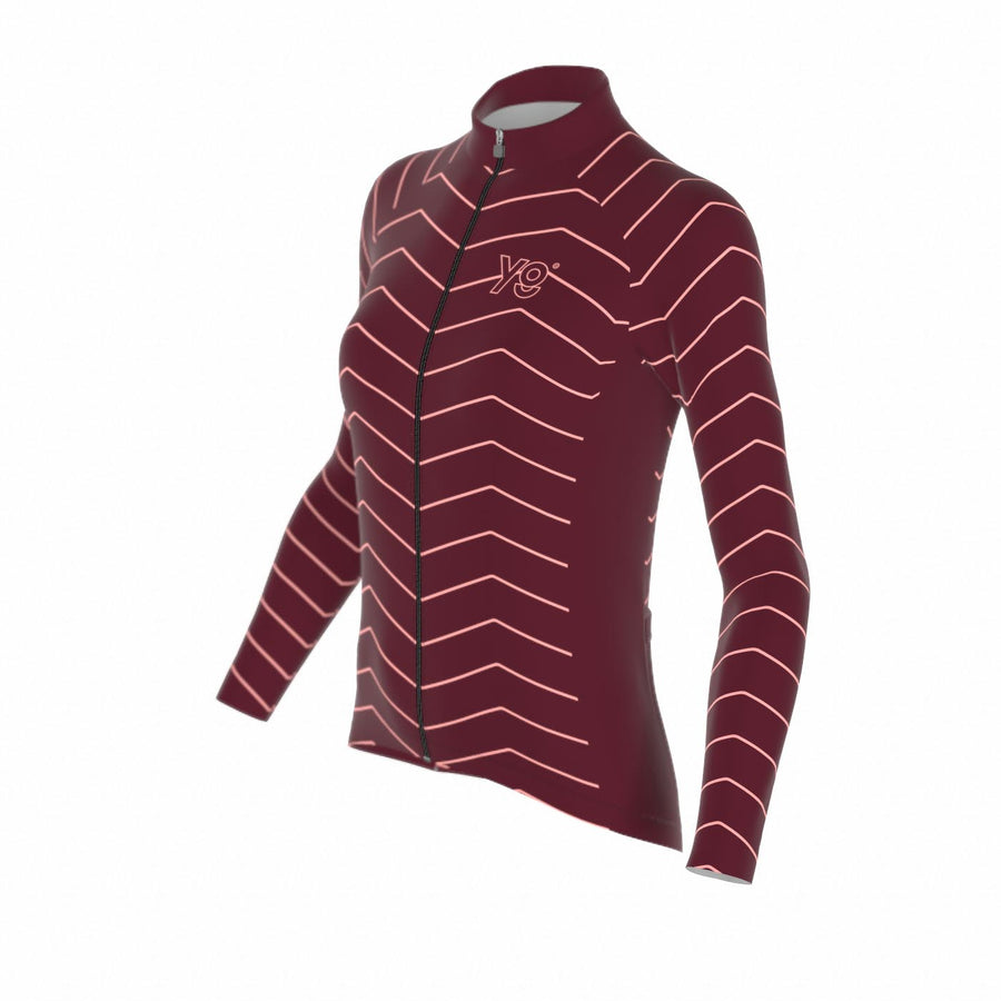 WOMEN'S CLASSIC LONG SLEEVE - BURGUNDY