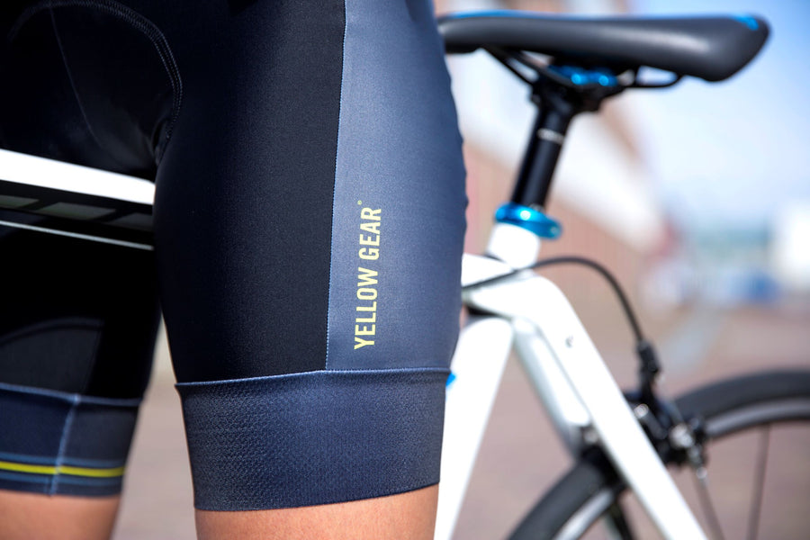 women's cycling bib shorts with a black and anthracite colour
