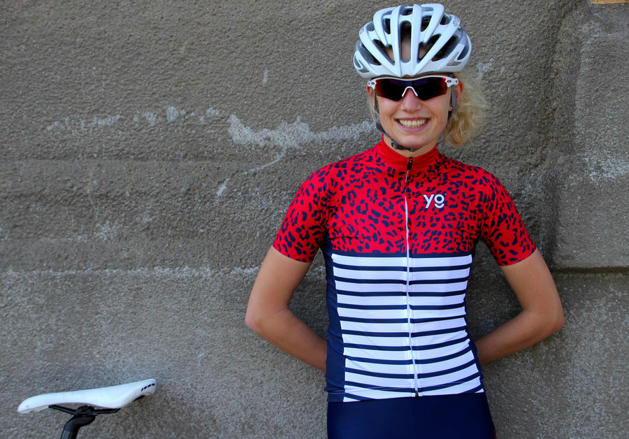 Striped Leopard Cycling Jersey