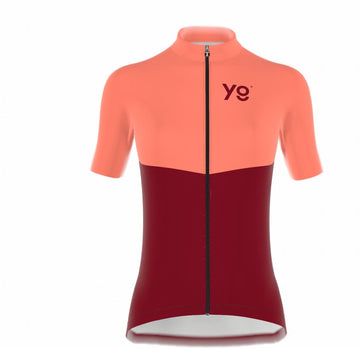 Coral Red Cycling Jersey