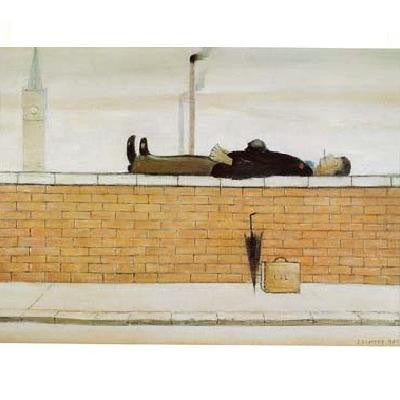 Man Lying On A Wall (1957) Fine Art Print
