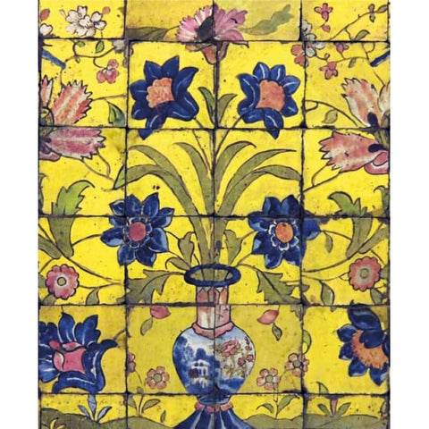 Greetings Card - Panel of Glazed Tiles