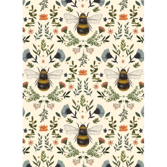 Greetings Card - Bumblebees