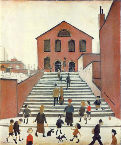 Old Church And Steps (1960) Fine Art Print
