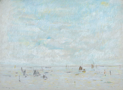 Picture of Yachts 1920 print by LS Lowry