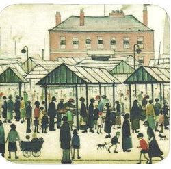 Picture of  ceramic coaster ls lowry market scene