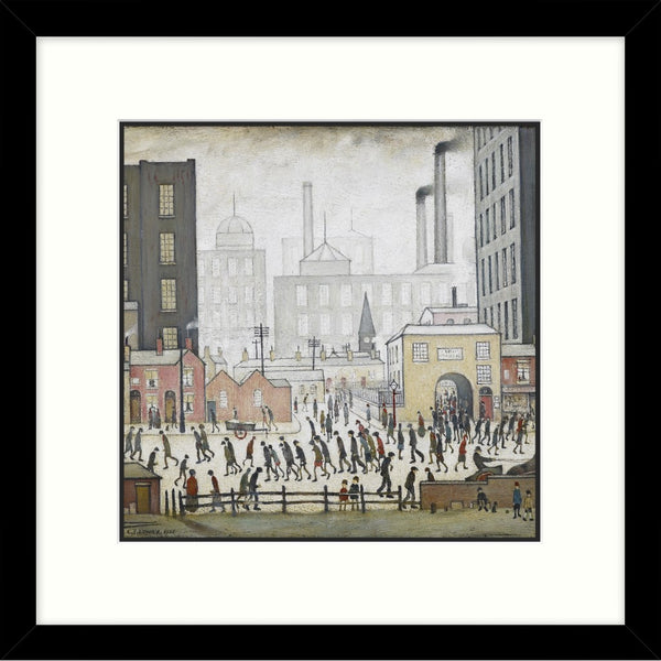 "Framed Print ""Coming From The Mill (1930)"" Square"