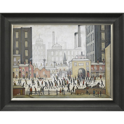 "Framed Print ""Coming From the Mill (1930)"" Handfinished Print"