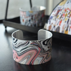 Swirl Inspired by Going to Work (1959) Aluminium Bangle