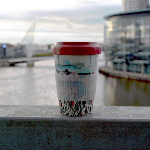 Lowry Bamboo Travel Mug - Going to Work