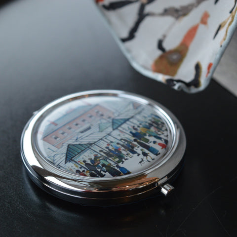 "Compact Mirror ""Market Scene, Northern Town (1939)"""