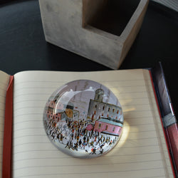 "Dome Paperweight ""Going to Work (1959)"""