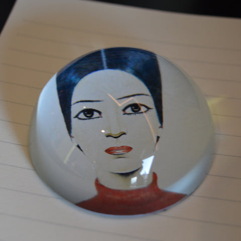 LS Lowry's 'A Portrait of Ann' Glass Dome Paperweight