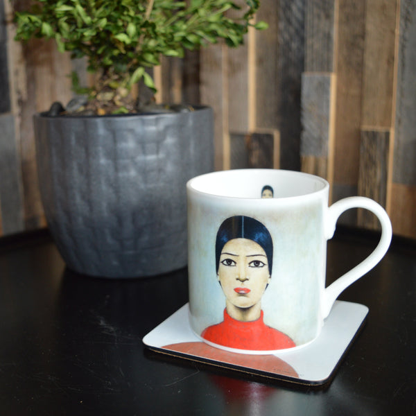 LS Lowry's 'A Portrait of Ann' Mug & Coaster Set