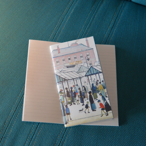 Slimline Notebook - Market Scene, Northern Town