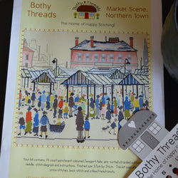 "Bothy Thread ""Market Scene, Northern Town (1939)"" Cross Stitch"