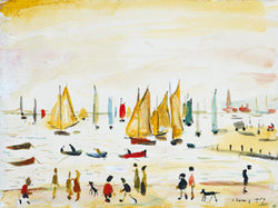 Picture of Yachts 1959 print by LS Lowry