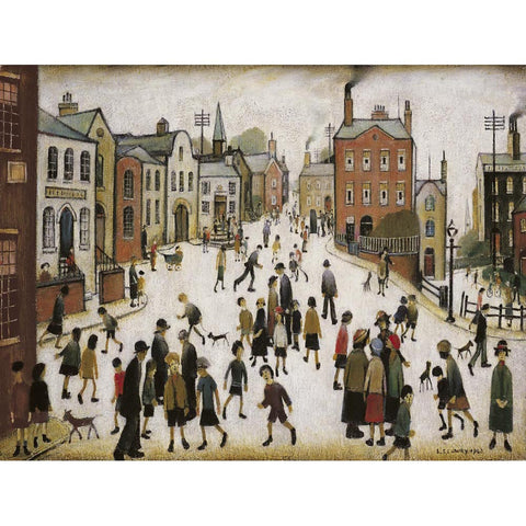 Picture of LS Lowry A Village Square print