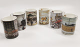 Set Of 6 Assorted Lowry China Mugs