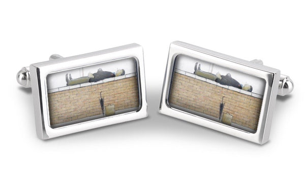 "Fox & Chave ""Man Lying On A Wall (1957)"" Cufflinks"