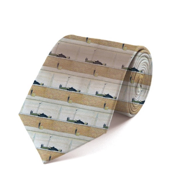 "Fox & Chave ""Man Lying On A Wall (1957)"" Silk Tie"