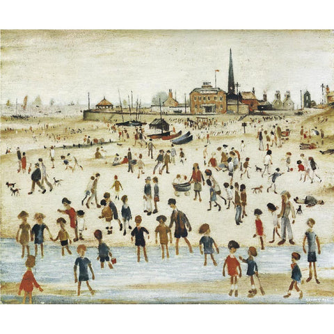 At The Seaside (1946) Fine Art Print
