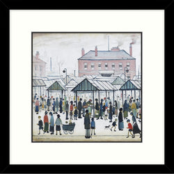 "Framed Print ""Market Scene, Northern Town (1939)"" Square"