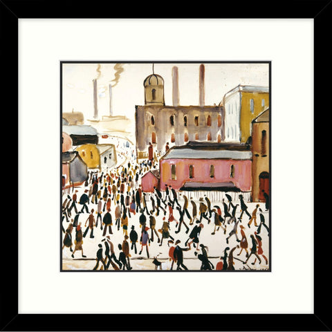 "Framed Print ""Going to Work (1959)"" Square"