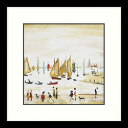 "Framed Print ""Yachts (1959)"" Square"