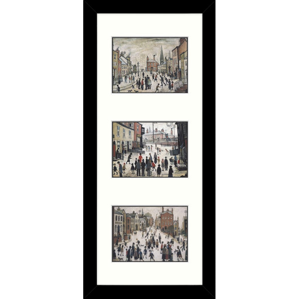 Framed Print Lowry Tryptic A