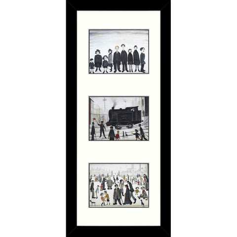 Framed Print Lowry Tryptic B