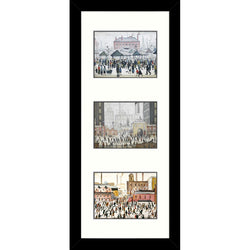 Framed Print Lowry Tryptic C