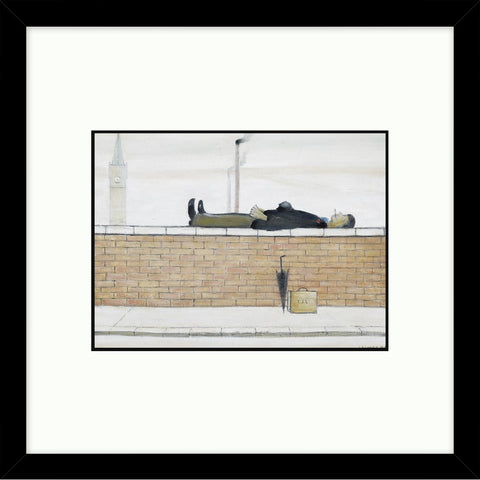 "Framed Print ""Man Lying on a Wall (1957)"" Square"