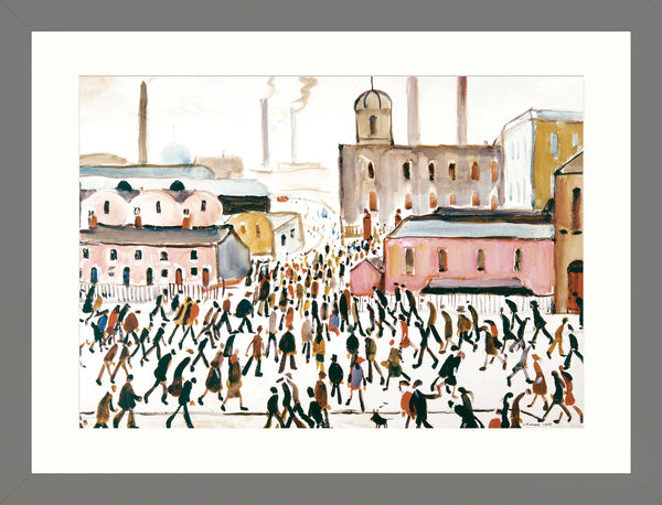 Framed Print Grey Ash: Going to Work 1959