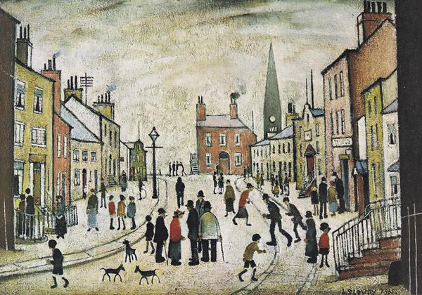 Picture of LS Lowry A Lancashire Village print