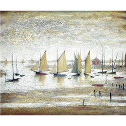 Picture of Yachts At Lytham 1954 print by LS Lowry