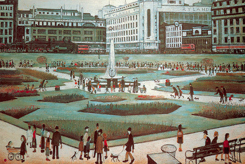 Piccadilly Gardens (1954) Fine Art Print