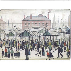 "Placemat ""Market Scene, Northern Town (1939)"""