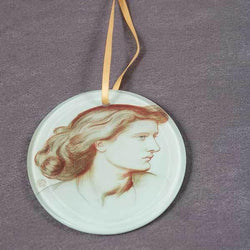 Picture of Pre-Raphaelites: Dante Gabriel Rosetti's Potrait of Alexa Wilding Hanging Ornament
