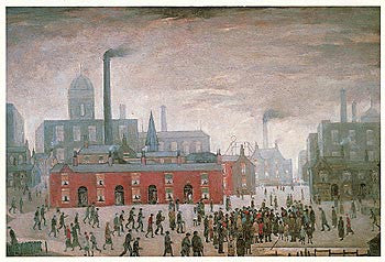 Picture of LS Lowry An Accident print