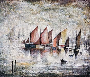 Sailing Boats (1930) Fine Art Print