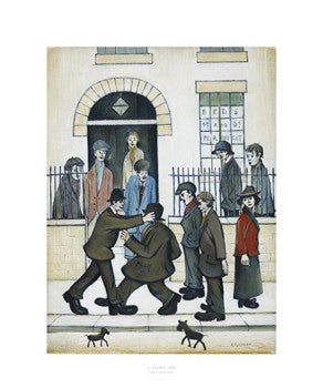 Picture of LS Lowry A Fight print