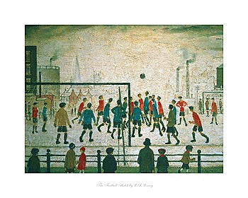 The Football Match (19--) Fine Art Print