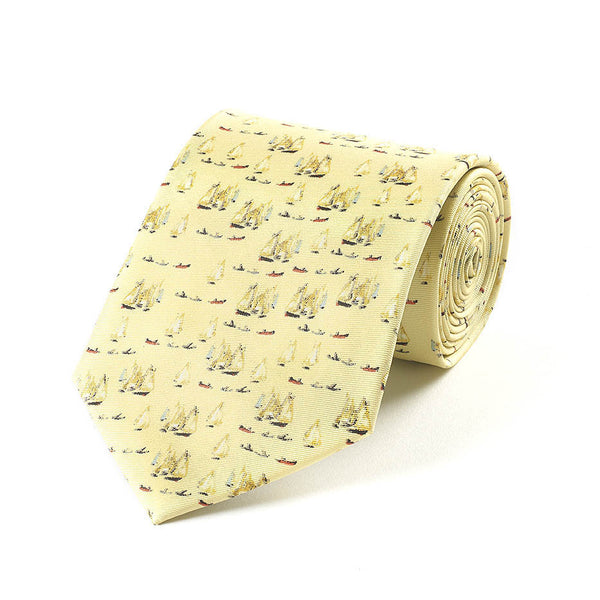 "Fox & Chave ""Yachts (1959)"" Silk Tie"