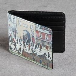 Picture of a wallet with LS Lowry design