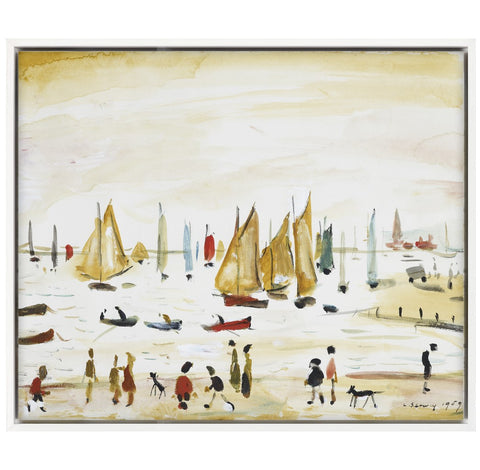 "Canvas Float Frame ""Yachts (1959)"""