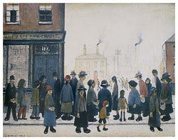 Waiting For The Shops To Open (1943) Fine Art Print