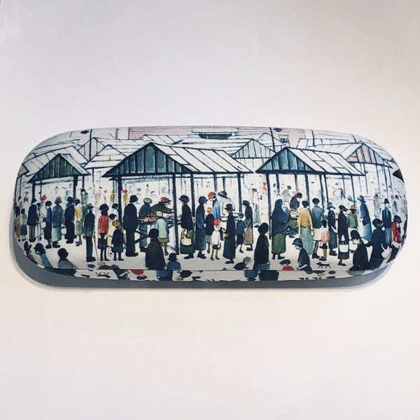 Lowry Glasses Case With Lens Cloth (Market Scene, Northern Town)