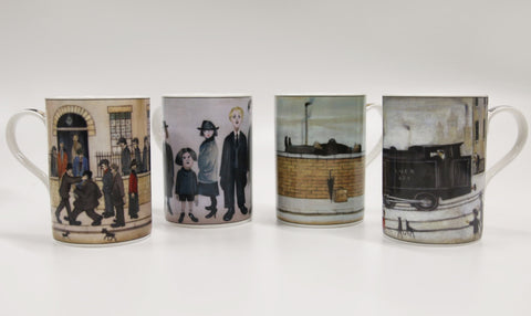 Set Of 4 Assorted Lowry China Mugs