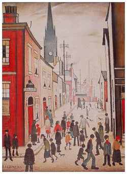 Picture of LS Lowry An Organ Grinder Print